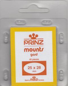 PRINZ CLEAR MOUNTS 25X28 (40) RETAIL PRICE $3.99
