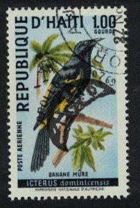 Haiti Birds Overprint 'APOLLO XI' 1v canc MI#1063