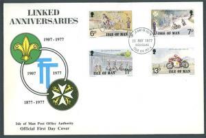 Isle of Man 1977 Linked Anniversaries FDC