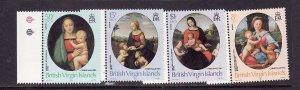 Virgin Is.-Sc#458-61-unused  NH set-Christmas-Raphael Paintings-id2-1983-