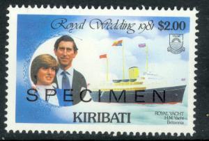 KIRIBATI 1981 Charles and Diana Wedding $2.00 Specimen Sc 377 MNH