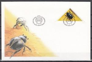 Finland, Scott cat. 962. Beetle, Insect Triangle issue on a First day cover.