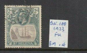 ST HELENA 1922 2D GREY/SLATE FINE USED SG100