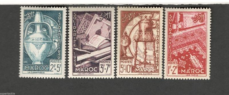 1949 Morocco SCOTT #B44-47 SOLIDARITE MH stamps