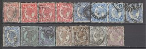 COLLECTION LOT OF #986 AUSTRALIAN STATES QUEENSLAND 15 STAMPS 1897+ CV+$26