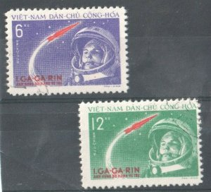 1961   NORTH VIET NAM -  SG: N170/17 - 1st MANNED SPACE FLIGHT- MOUNTED MINT