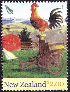 NEW ZEALAND 2005 QEII $2.00 Chinese New Year - Year of the Rooster - Farmyard...