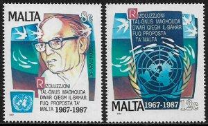 Malta #707-8 MNH Set - Marine Resources