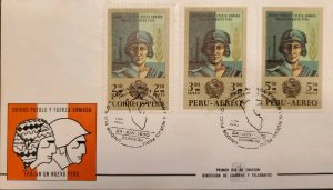O) 1970 PERU, OIL WELL,SOLDIER, UNITED PEOPLE AND ARMY BUILDING A NEW PERU, F...