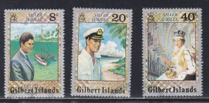 Gilbert Isl. # 293-295 Queen Elizabeth's Reign 25th Anniversary, Used 1/2 Cat.
