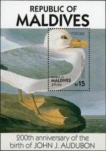 Maldive Islands #1203-1204 Audubon Birds 2 Souvenir Sheets MNH