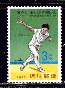 Ryukyu Is 179 MNH 1968 Tennis Player    (ap2325)