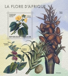 TOGO - 2021 - African Flora - Perf Souv Sheet - Mint Never Hinged
