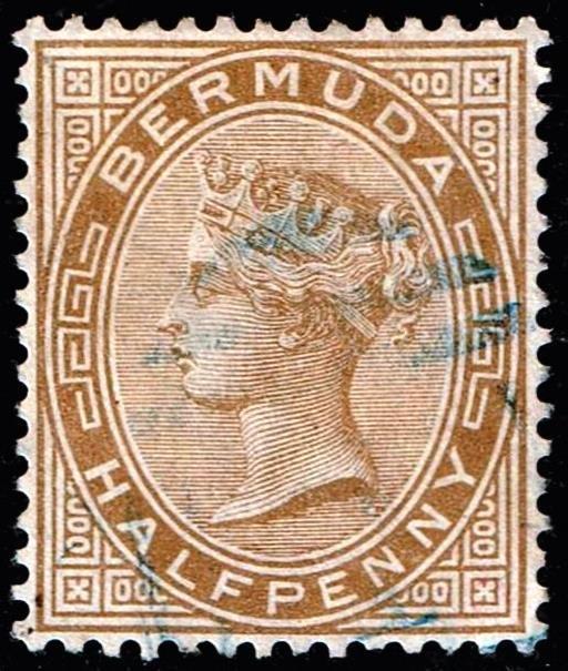 UK STAMP BERMUDA 1880 Queen Victoria 1/2P USED STAMP XFS SUPERB