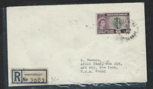 MONTSERRAT (P0407B) QEII 1955 $4.80 COVER FROM VILLAGE TO USA