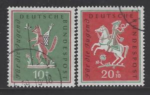 Germany Bund Scott # B360 - B361, used
