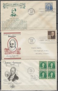 COLLECTION LOT # 48L USA 3 FDC 1940