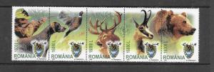 BIRDS - ROMANIA #4632-GAME CONSERVATION  MNH