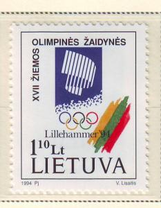 Lithuania Sc 478 1994 Lillehammer Olympics stamp mint NH