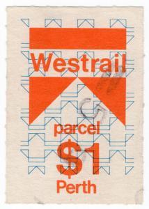 (I.B) Australia - Queensland Railways : Parcel Stamp $1 (Perth)