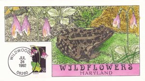 COLLINS HAND PAINTED FDC Sc# 2665 Wildflowers Twinflower 1982 First Day Issue
