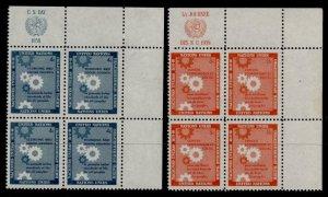 United Nations - New York 65-6 TR Block MNH Economic & Social Council