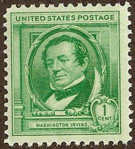 United States 859 - Mint-NH - 1c Washington Irving (1940)