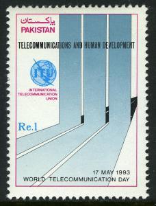 Pakistan 783, MNH. World Telecommunications Day, 1993