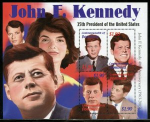 DOMINICA JOHN F. KENNEDY 35th PRESIDENT OF THE UNITED STATES  SHEET II  MINT NH