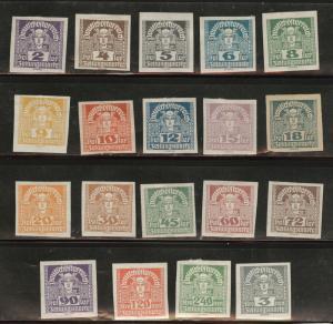 Austria Osterreich Scott P29-47 MH* Newspaper stamp set