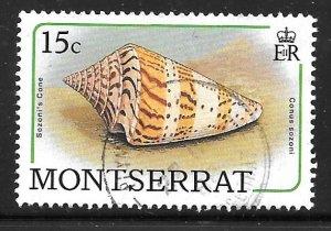 Montserrat 683: 15c Sozon's Cone (Conus sozoni), used, VF