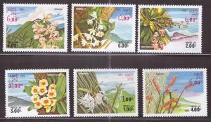 LAOS Scott 467-472  Wild Flower set NGAI 1983 CV $4.50