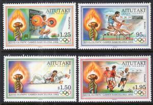 Aitutaki 460-463 Summer Olympics MNH VF