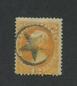 1873 United States Official Stamp #O6 Used Hinged Average Star Fancy Cancel