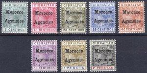 Morocco Agencies 1899 5c-2p on Gibraltar(2) SG9-16 Sc12-19 LMM/MLH Cat£170($210)