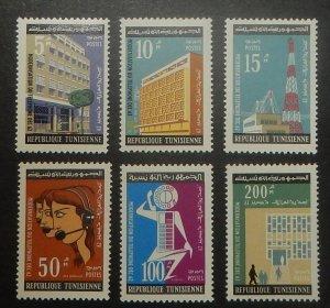 Tunisia 429-34. 1962 Philatelic Exhibition, Telephone Automation, NH
