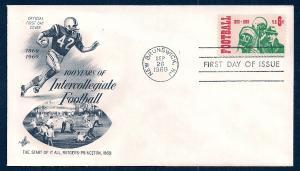UNITED STATES FDC 6¢ Football 1969 ArtCraft