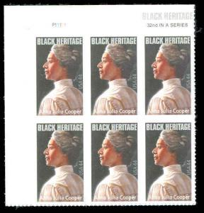 4408 Anna Julia Cooper Forever Stamp Plate Block of 6 Black Heritage  MNH