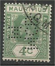 MAURITIUS, 1933, used 4c, King George V, Scott 183