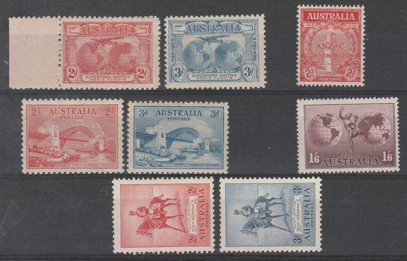 AUSTRALIA 1931 - 35 COMMEMORATIVE RANGE MNH **