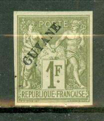 French Guiana 17 mint CV $210