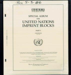 1951-1962 Scott United Nations Imprint Blocks Stamp Album Supplement Part: I