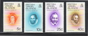 VIRGIN ISLANDS #270-273  1974  FAMOUS EXPLORERS        MINT VF NH O.G