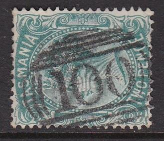 Tasmania 1870-78 Type QV Side Face Sideways Watermark Pmk 100 FU