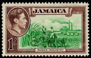 JAMAICA SG130, 1s green & purple-brown, VLH MINT. Cat £14.