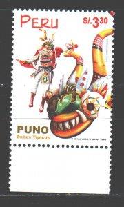 Peru. 1999. 1665. Folk dances. MNH.