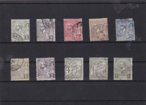 monaco 1891 used stamps ref 6967