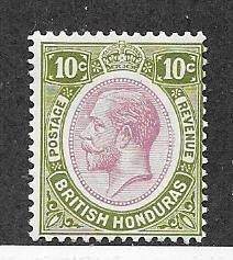 British Honduras #98  10c George V (M)  CV $4.00