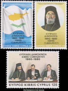Cyprus MNH 552-4 Treaty Signing