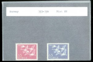 NORWAY Sc#353-354 MINT NEVER HINGED Complete Set